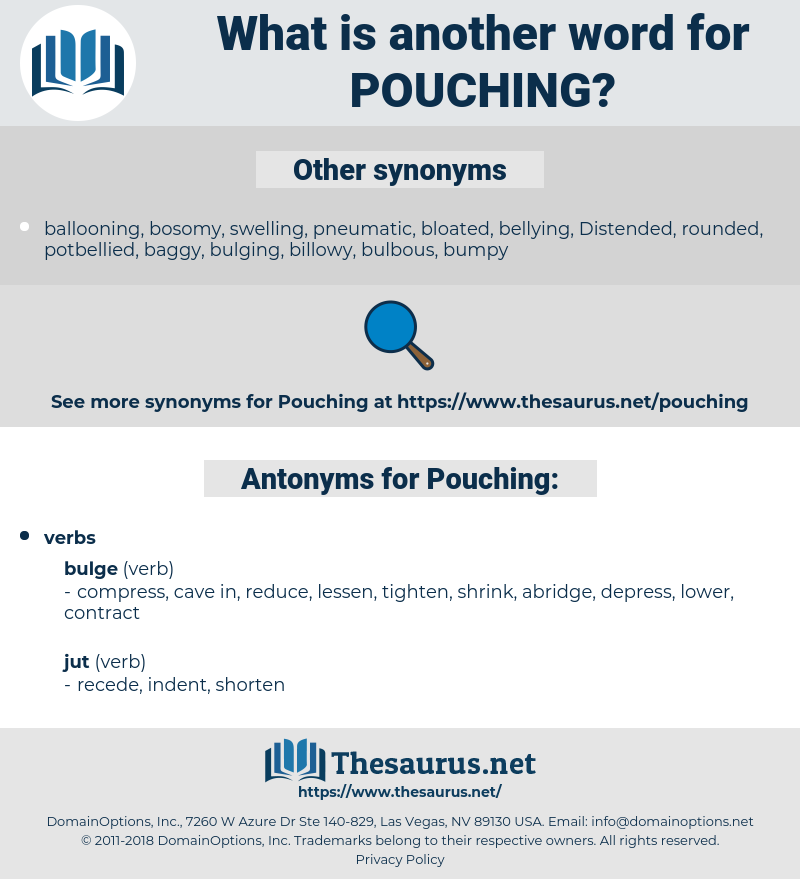 Pouching, synonym Pouching, another word for Pouching, words like Pouching, thesaurus Pouching