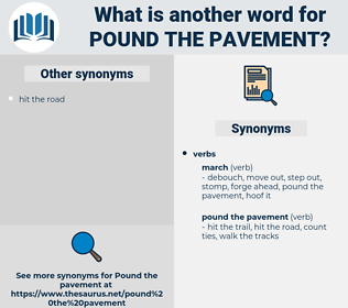 pound the pavement, synonym pound the pavement, another word for pound the pavement, words like pound the pavement, thesaurus pound the pavement