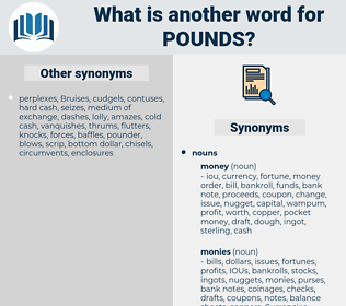 pounds, synonym pounds, another word for pounds, words like pounds, thesaurus pounds