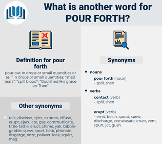 pour forth, synonym pour forth, another word for pour forth, words like pour forth, thesaurus pour forth