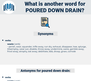poured down drain, synonym poured down drain, another word for poured down drain, words like poured down drain, thesaurus poured down drain