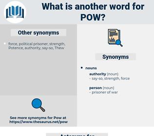 pow, synonym pow, another word for pow, words like pow, thesaurus pow