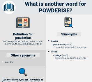 powderise, synonym powderise, another word for powderise, words like powderise, thesaurus powderise