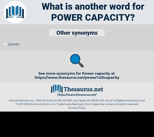 power capacity, synonym power capacity, another word for power capacity, words like power capacity, thesaurus power capacity