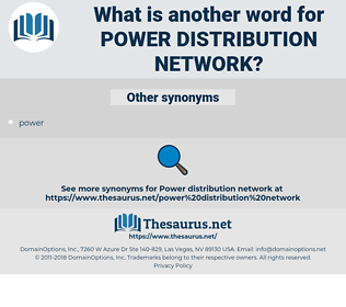 power distribution network, synonym power distribution network, another word for power distribution network, words like power distribution network, thesaurus power distribution network