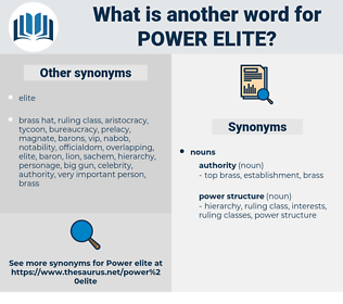 power elite, synonym power elite, another word for power elite, words like power elite, thesaurus power elite