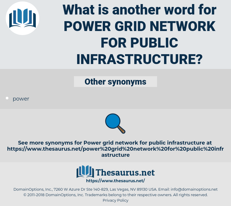 power grid network for public infrastructure, synonym power grid network for public infrastructure, another word for power grid network for public infrastructure, words like power grid network for public infrastructure, thesaurus power grid network for public infrastructure