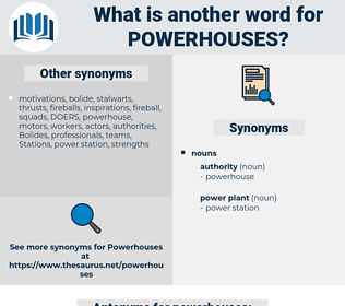powerhouses, synonym powerhouses, another word for powerhouses, words like powerhouses, thesaurus powerhouses