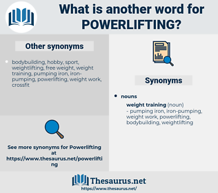 powerlifting, synonym powerlifting, another word for powerlifting, words like powerlifting, thesaurus powerlifting