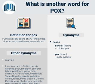 pox, synonym pox, another word for pox, words like pox, thesaurus pox