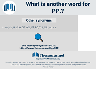 PP, synonym PP, another word for PP, words like PP, thesaurus PP