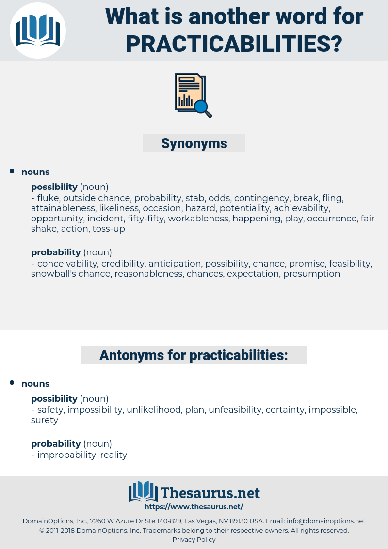 practicabilities, synonym practicabilities, another word for practicabilities, words like practicabilities, thesaurus practicabilities