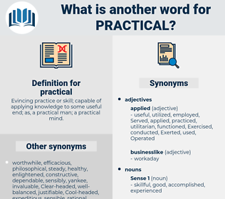 practical, synonym practical, another word for practical, words like practical, thesaurus practical
