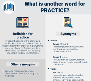 practice, synonym practice, another word for practice, words like practice, thesaurus practice