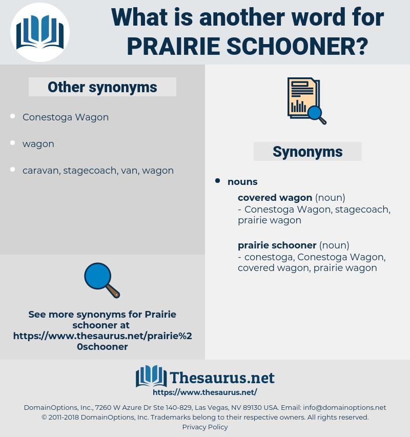 prairie schooner, synonym prairie schooner, another word for prairie schooner, words like prairie schooner, thesaurus prairie schooner