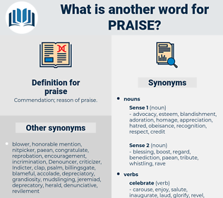 praise, synonym praise, another word for praise, words like praise, thesaurus praise