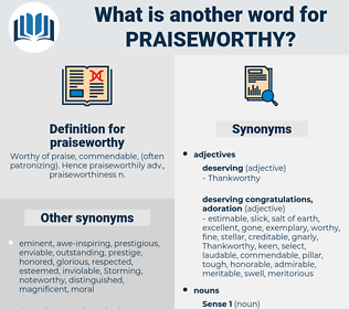 praiseworthy, synonym praiseworthy, another word for praiseworthy, words like praiseworthy, thesaurus praiseworthy