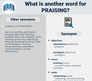 praising, synonym praising, another word for praising, words like praising, thesaurus praising