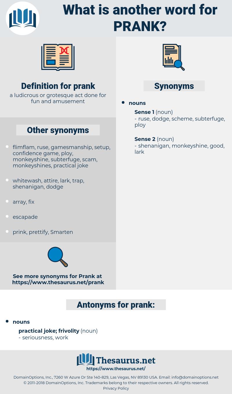 prank, synonym prank, another word for prank, words like prank, thesaurus prank