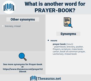 prayer book, synonym prayer book, another word for prayer book, words like prayer book, thesaurus prayer book