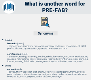 pre fab, synonym pre fab, another word for pre fab, words like pre fab, thesaurus pre fab