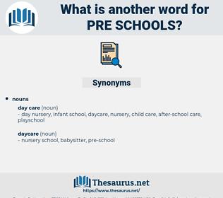 pre-schools, synonym pre-schools, another word for pre-schools, words like pre-schools, thesaurus pre-schools