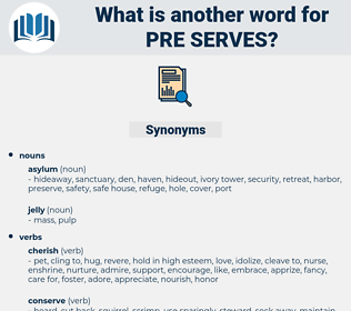 pre-serves, synonym pre-serves, another word for pre-serves, words like pre-serves, thesaurus pre-serves