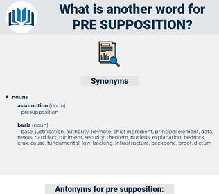 pre-supposition, synonym pre-supposition, another word for pre-supposition, words like pre-supposition, thesaurus pre-supposition
