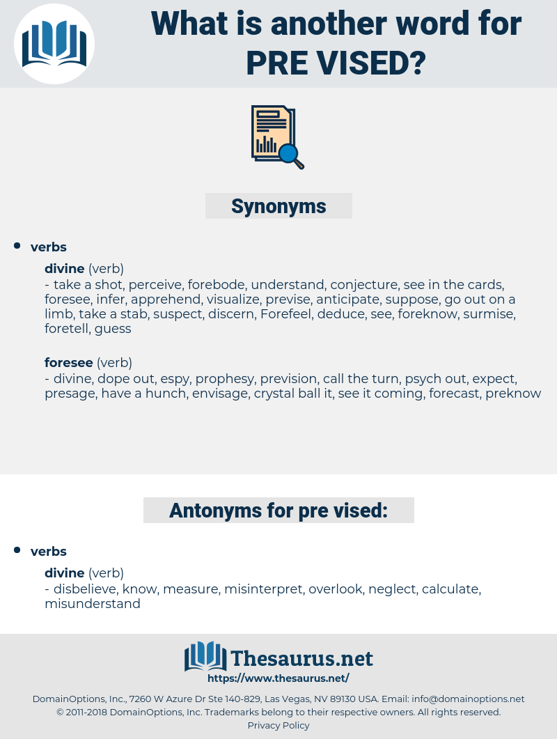 pre vised, synonym pre vised, another word for pre vised, words like pre vised, thesaurus pre vised