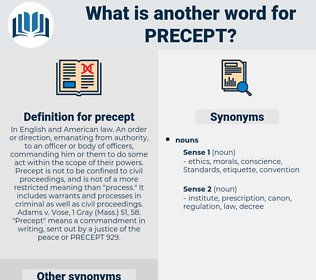 precept, synonym precept, another word for precept, words like precept, thesaurus precept
