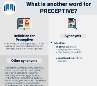 Preceptive, synonym Preceptive, another word for Preceptive, words like Preceptive, thesaurus Preceptive