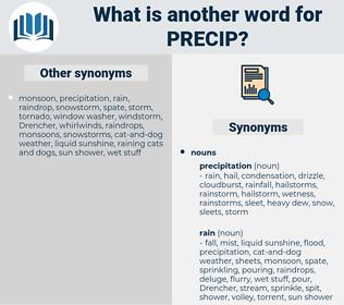 PRECIP, synonym PRECIP, another word for PRECIP, words like PRECIP, thesaurus PRECIP