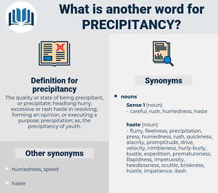 precipitancy, synonym precipitancy, another word for precipitancy, words like precipitancy, thesaurus precipitancy
