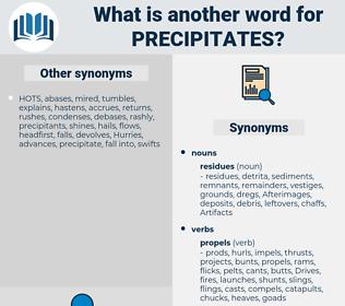 precipitates, synonym precipitates, another word for precipitates, words like precipitates, thesaurus precipitates