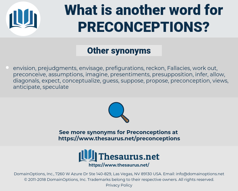 preconceptions, synonym preconceptions, another word for preconceptions, words like preconceptions, thesaurus preconceptions