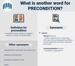 precondition, synonym precondition, another word for precondition, words like precondition, thesaurus precondition
