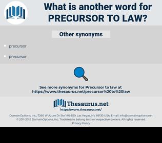 precursor to law, synonym precursor to law, another word for precursor to law, words like precursor to law, thesaurus precursor to law