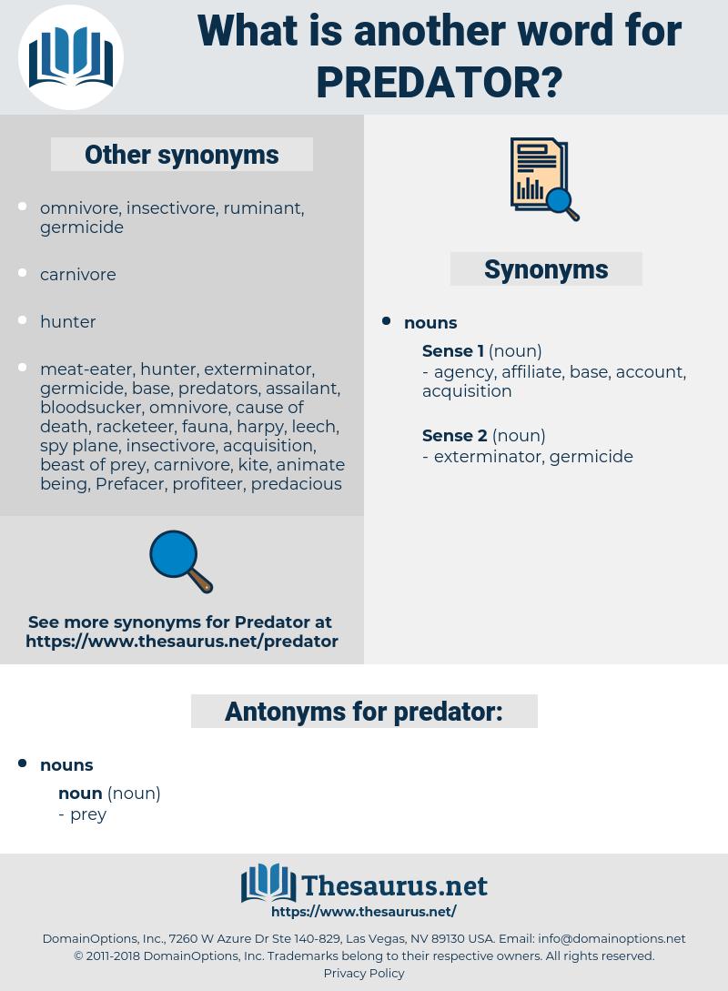 predator, synonym predator, another word for predator, words like predator, thesaurus predator