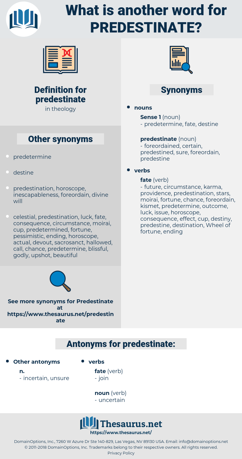 predestinate, synonym predestinate, another word for predestinate, words like predestinate, thesaurus predestinate