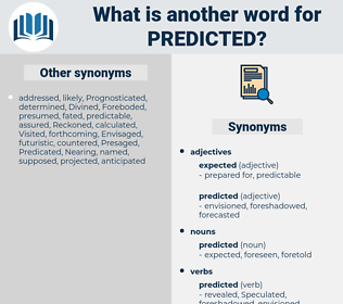 predicted, synonym predicted, another word for predicted, words like predicted, thesaurus predicted
