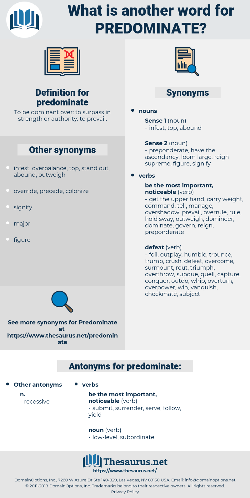 predominate, synonym predominate, another word for predominate, words like predominate, thesaurus predominate