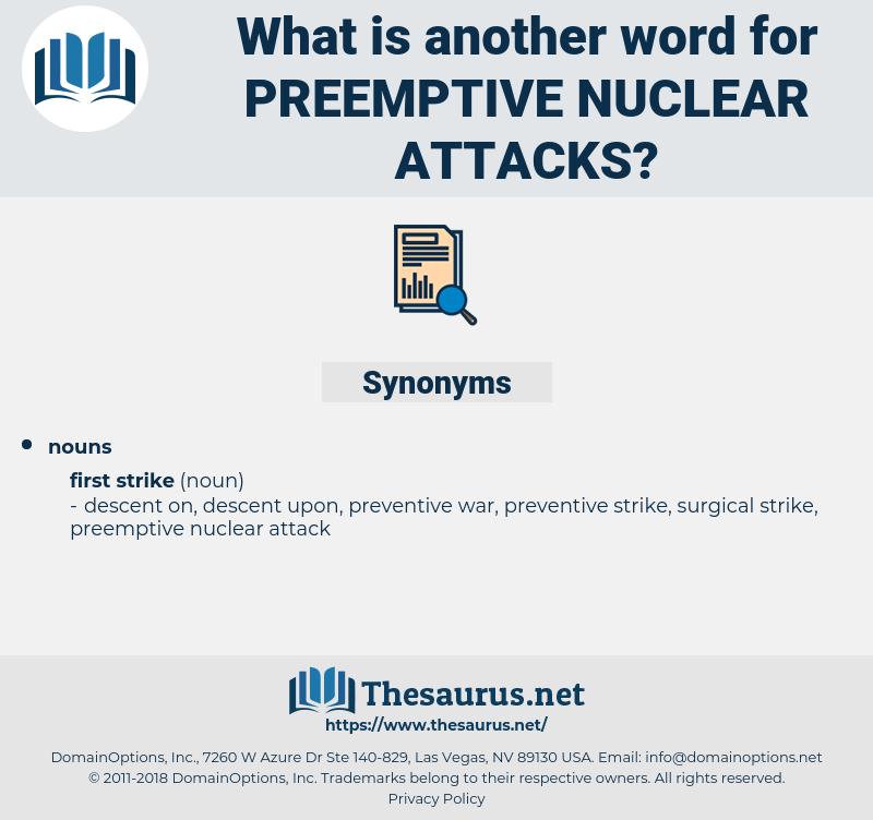 preemptive nuclear attacks, synonym preemptive nuclear attacks, another word for preemptive nuclear attacks, words like preemptive nuclear attacks, thesaurus preemptive nuclear attacks