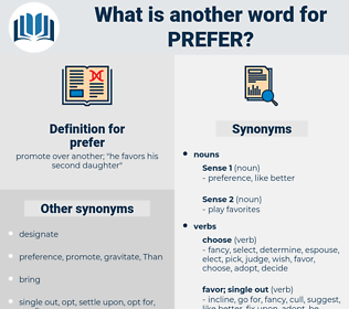 prefer, synonym prefer, another word for prefer, words like prefer, thesaurus prefer