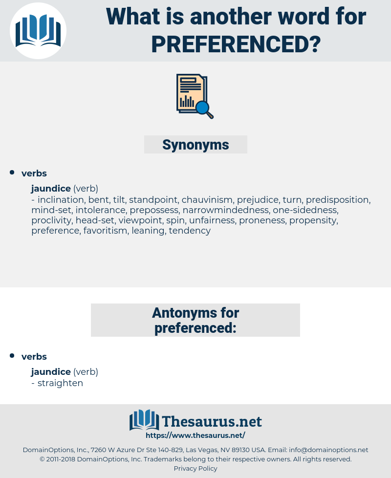 preferenced, synonym preferenced, another word for preferenced, words like preferenced, thesaurus preferenced