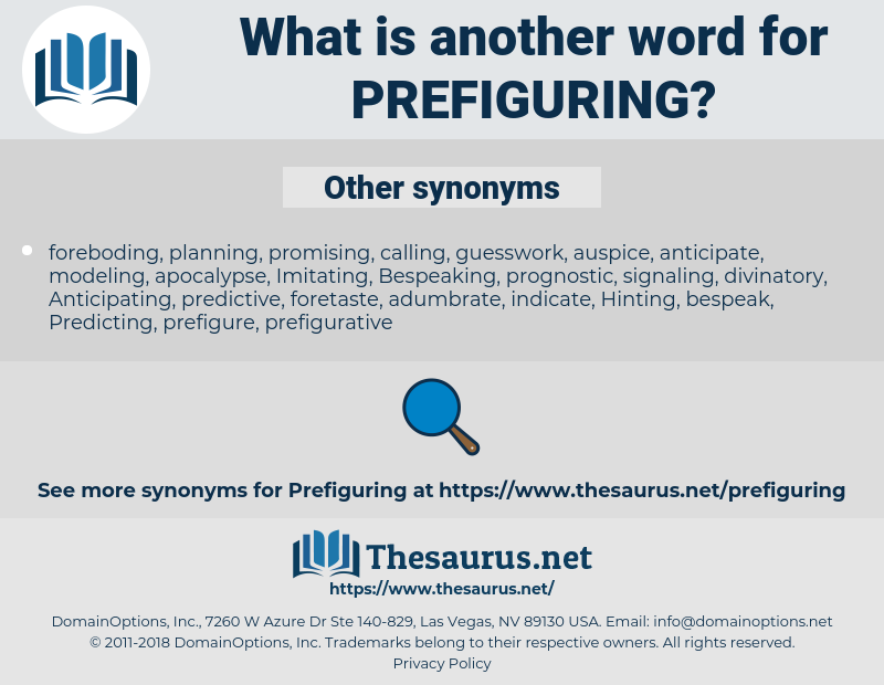 Prefiguring, synonym Prefiguring, another word for Prefiguring, words like Prefiguring, thesaurus Prefiguring