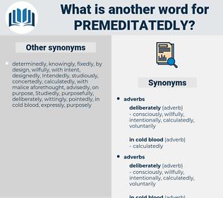 premeditatedly, synonym premeditatedly, another word for premeditatedly, words like premeditatedly, thesaurus premeditatedly
