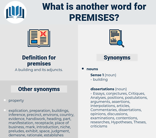 premises, synonym premises, another word for premises, words like premises, thesaurus premises