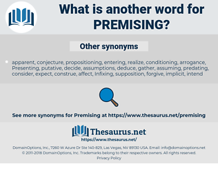 Premising, synonym Premising, another word for Premising, words like Premising, thesaurus Premising