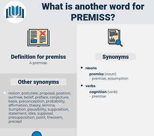 premiss, synonym premiss, another word for premiss, words like premiss, thesaurus premiss