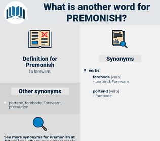 Premonish, synonym Premonish, another word for Premonish, words like Premonish, thesaurus Premonish